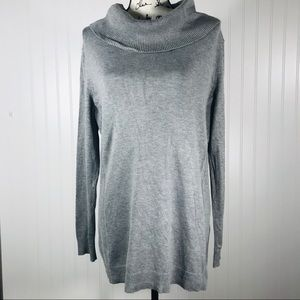 Christopher Banks Gray Cowl/Turtle Neck Sweater